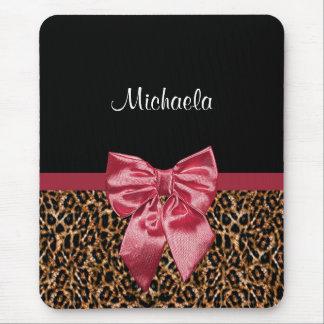 Mousepad Arco vermelho elegante e nome do impressão à moda