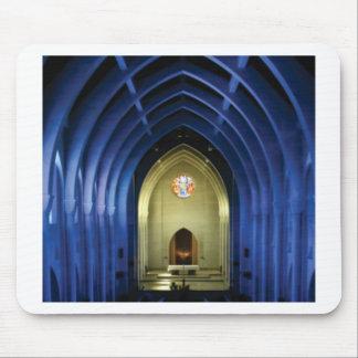 Mousepad Arcos na igreja azul