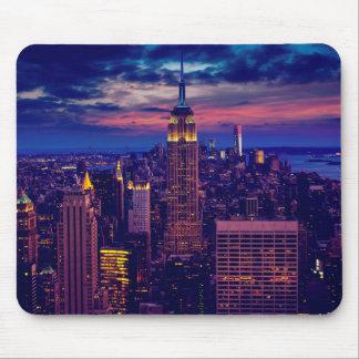 Mousepad Arquitectura da cidade de New York na noite
