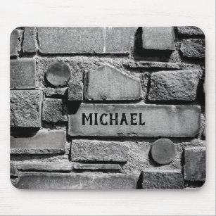 Mousepad Arranjo legal da parede de tijolo de