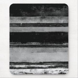 "Mousepad arte abstracta ""2AM"" preto e branco"