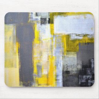 "Mousepad Arte abstracta cinzenta e amarela ""ocupada,"