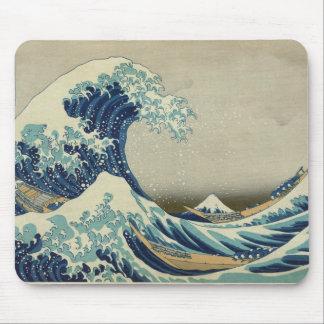 Mousepad Arte asiática - a grande onda fora de Kanagawa