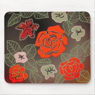 Mousepad Arte cor-de-rosa tirada mão