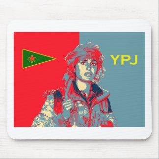 Mousepad Arte curdo 2 do lutador de YPJ