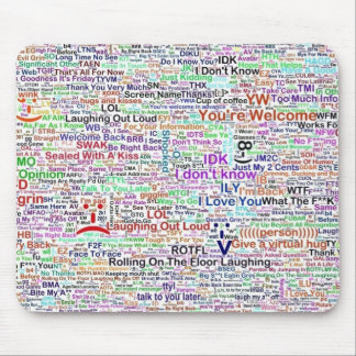 Mousepad Arte da palavra do bate-papo do computador