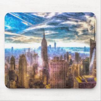Mousepad Arte da skyline de New York Manhattan