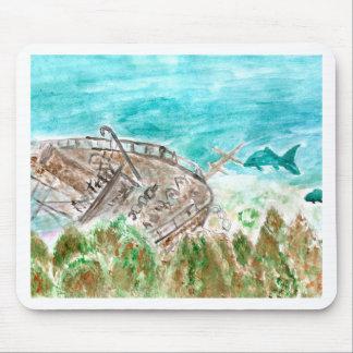 Mousepad Arte do barco da destruição