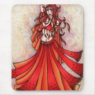 Mousepad Arte do dançarino de barriga do Aries