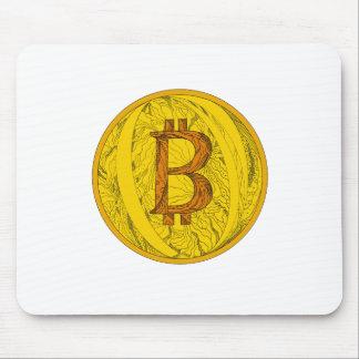 Mousepad Arte do Doodle de Bitcoin
