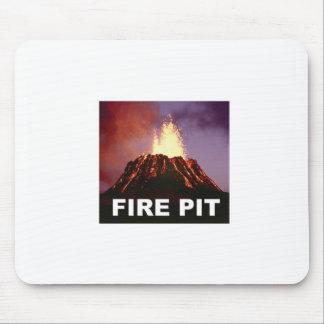 Mousepad arte do poço do fogo