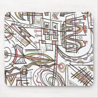 Mousepad Arte do Rapsódia-Abstrato geométrica