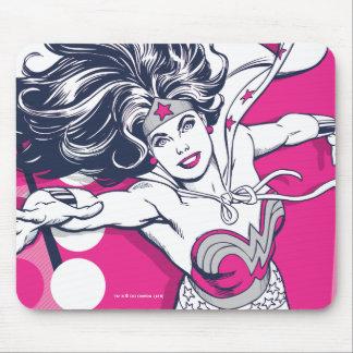 Mousepad Arte Glam retro do caráter da mulher maravilha
