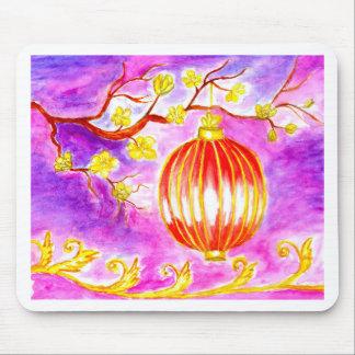 Mousepad Arte oriental da lanterna