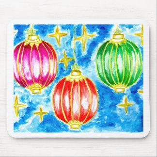 Mousepad Arte oriental das lanternas