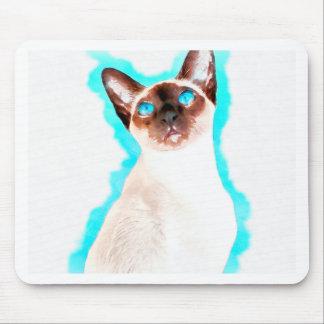 Mousepad Arte Siamese de CatWatercolor