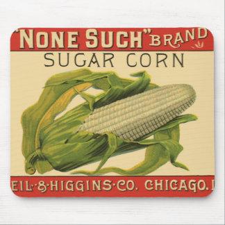 Mousepad Arte vegetal da etiqueta do vintage, nenhuma tal
