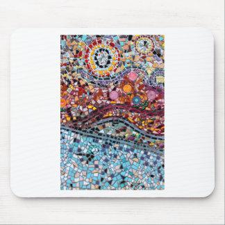 Mousepad Arte vibrante da parede do mosaico