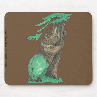 Mousepad Árvore adorável bonito que abraça o urso com