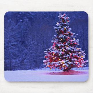 Mousepad Árvore de Natal coberto de neve