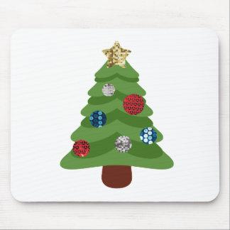 Mousepad árvore de Natal do emoji