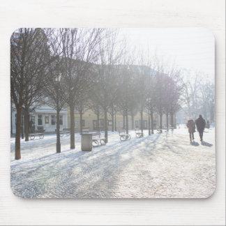 Mousepad Árvore do inverno em Praga (república checa)