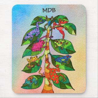 Mousepad Árvore do sapo de Oaxacan do monograma do costume