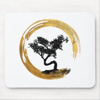 Mousepad Árvore dos bonsais. Círculo de Enso do zen. Arte