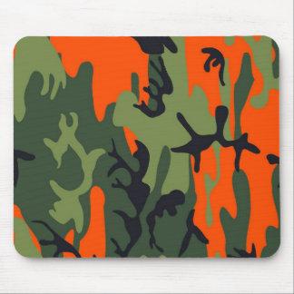Mousepad As forças armadas alaranjadas e verdes camuflam
