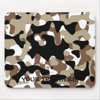 Mousepad As forças armadas camuflam o teste padrão