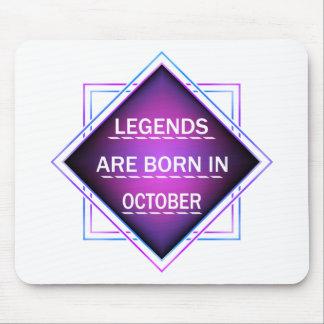 Mousepad As legendas são nascidas em outubro