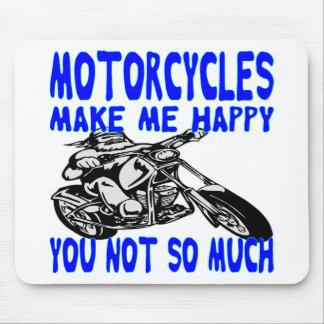 Mousepad As motocicletas fazem-no me feliz não tanto 2