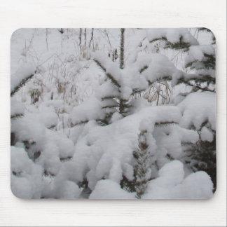 Mousepad As nevadas fortes cobriram pinhos