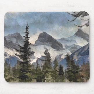 Mousepad As três irmãs - montanhas rochosas canadenses