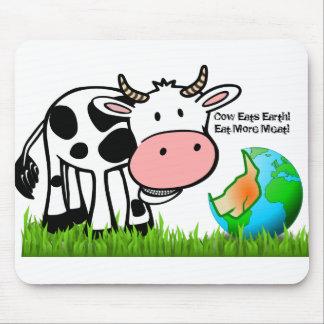 Mousepad As vacas estão destruindo a terra! Coma mais