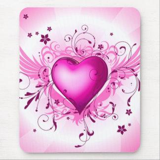 Mousepad Asas cor-de-rosa