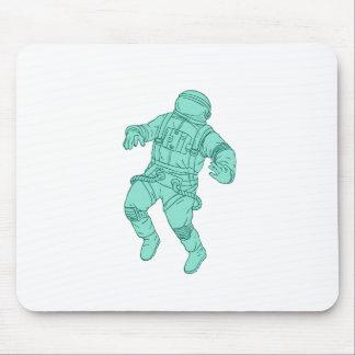 Mousepad Astronauta que flutua no desenho do espaço