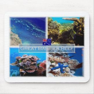 Mousepad AU - Austrália - grande recife de coral -
