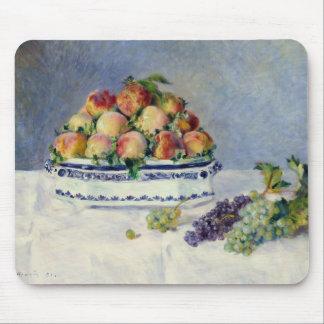 Mousepad Auguste Renoir - ainda vida com pêssegos e uvas