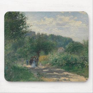 Mousepad Auguste Renoir - uma estrada em Louveciennes