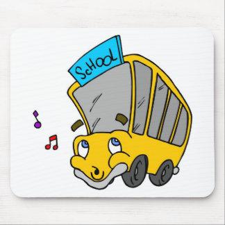Mousepad Auto escolar bonito que tira a cara feliz