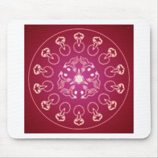 Mousepad Auto espiral pagão de Wicca do Pentagram do