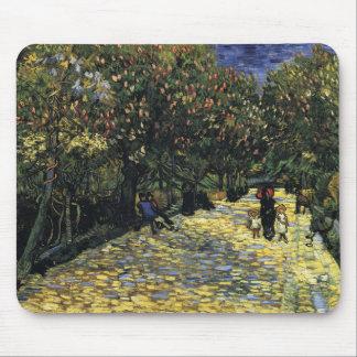 Mousepad Avenida com as árvores de castanha em Arles - Van