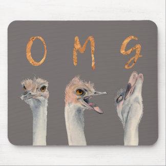 Mousepad Avestruzes de OMG