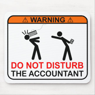 Mousepad AVISO! Não perturbe o contador