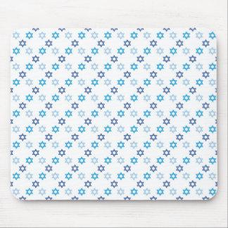 Mousepad Azul da estrela de David e branco judaicos
