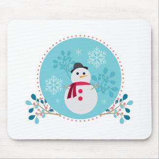 Mousepad Azul de turquesa original bonito do Natal do