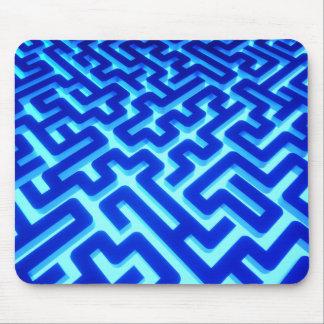 Mousepad Azul do labirinto