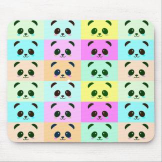 Mousepad Azul do rosa do amarelo do pop art do urso de