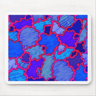Mousepad Azul e cor-de-rosa abstratos